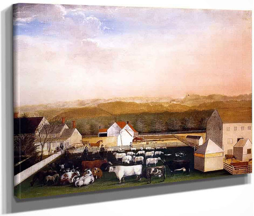 A May Morning View Of The Farm And Stock Of David Leedon By Edward Hicks