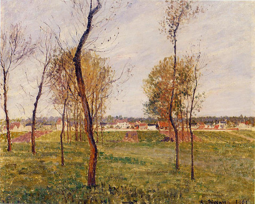A Meadow In Moret By Camille Pissarro By Camille Pissarro