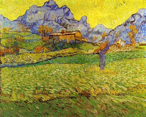 A Meadow In The Mountains Le Mas De Saint Paul By Vincent Van Gogh