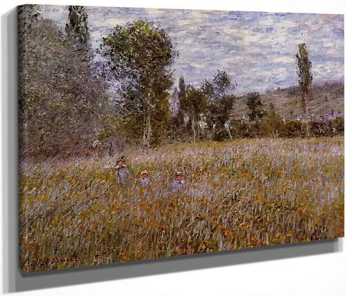 A Meadow By Claude Oscar Monet