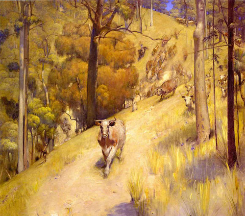 A Mountain Muster By Tom Roberts
