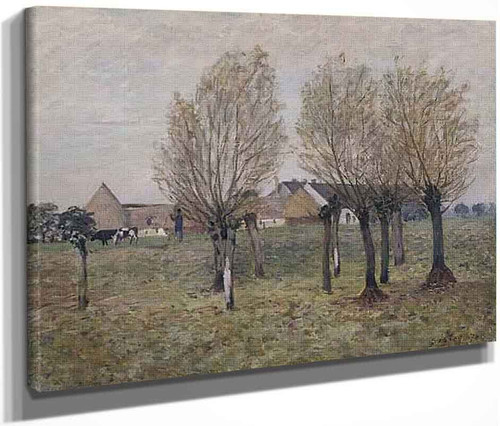 A Normandy Farm By Alfred Sisley