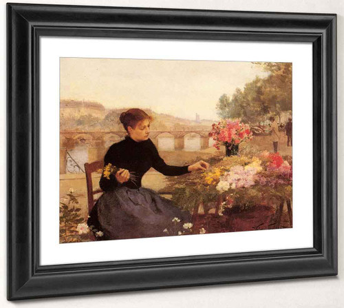 A Parisian Flower Market By Victor Gabriel Gilbert By Victor Gabriel Gilbert