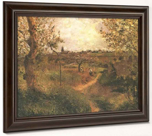 A Path Across The Fields By Camille Pissarro By Camille Pissarro