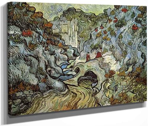 A Path Through A Ravine By Vincent Van Gogh