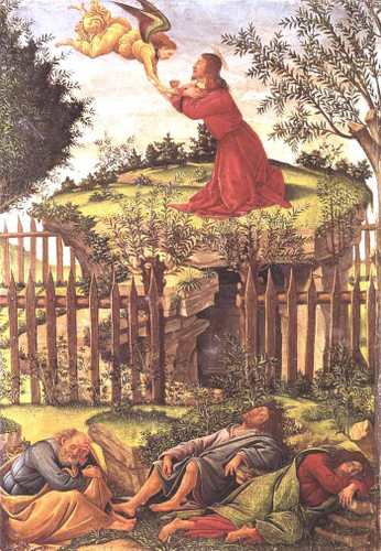 Agony In The Garden By Sandro Botticelli