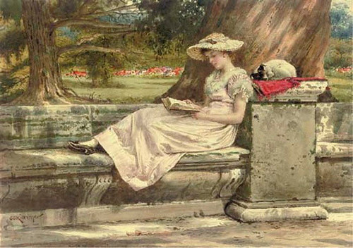A Quiet Read In The Shade By George Goodwin Kilburne By George Goodwin Kilburne