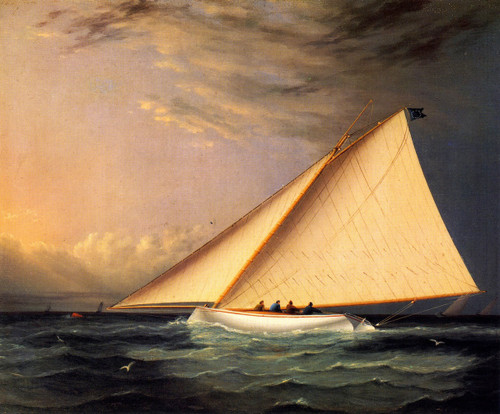 A Racing Yacht On The Great South Bay1 By James E. Buttersworth By James E. Buttersworth