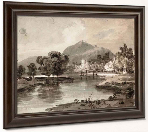 A River With A Ruined Castle Among Trees And A Mountain Beyond1 By Joseph Mallord William Turner