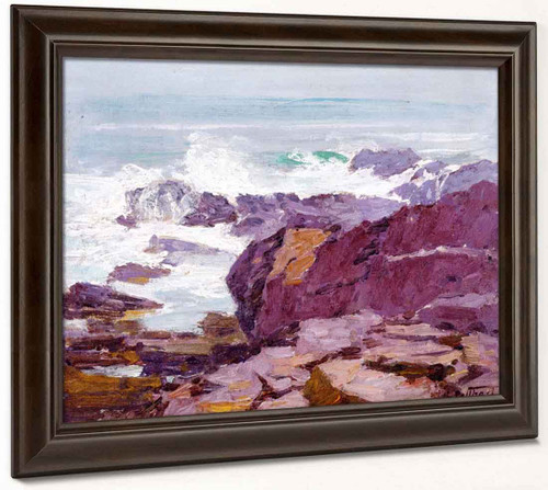 A Rugged Coast By Edward Potthast By Edward Potthast