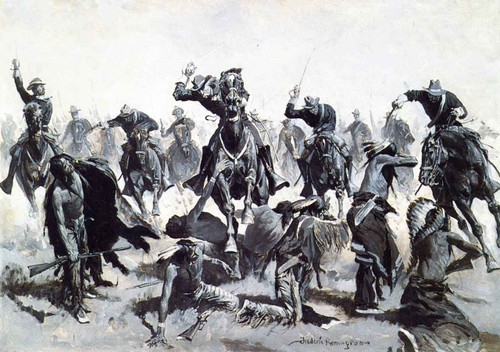 A Sabre Charge By Frederic Remington