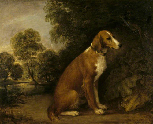 A Setter In A Landscape By Thomas Gainsborough  By Thomas Gainsborough