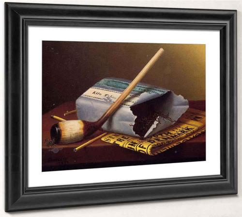 A Smoke Backstage By William Michael Harnett  By William Michael Harnett