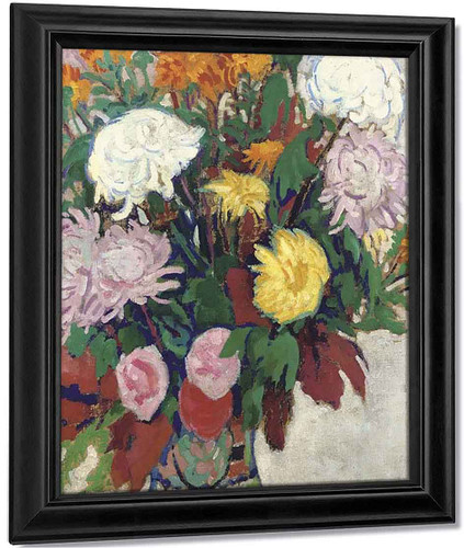 A Still Life With Flowers By Leo Gestel