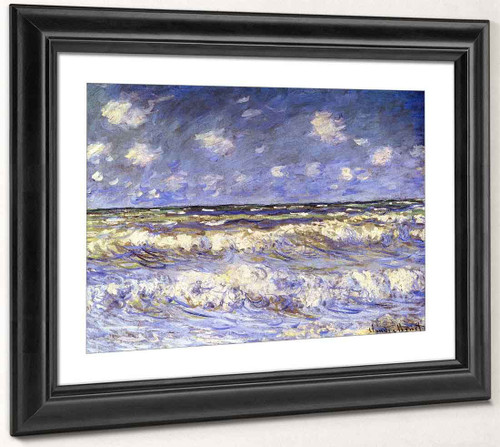A Stormy Sea By Claude Oscar Monet