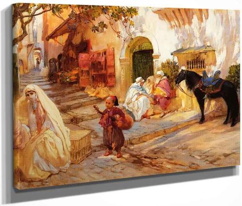 A Street In Algeria By Frederick Arthur Bridgman