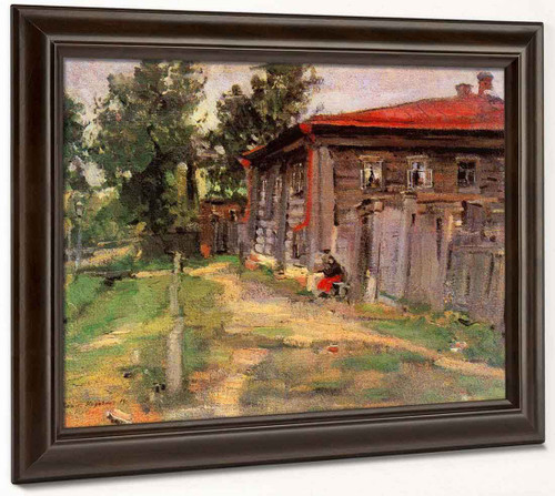 A Street In Pereslavl By Constantin Alexeevich Korovin By Constantin Alexeevich Korovin