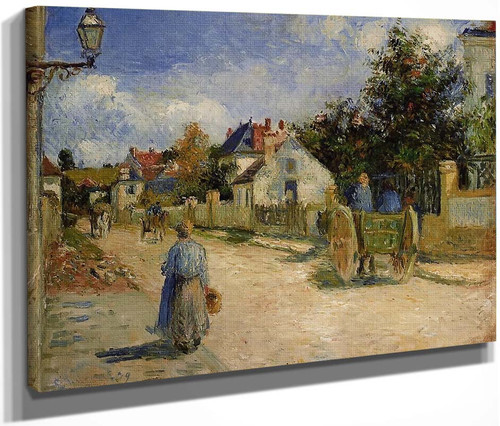 A Street In Pontoise By Camille Pissarro By Camille Pissarro