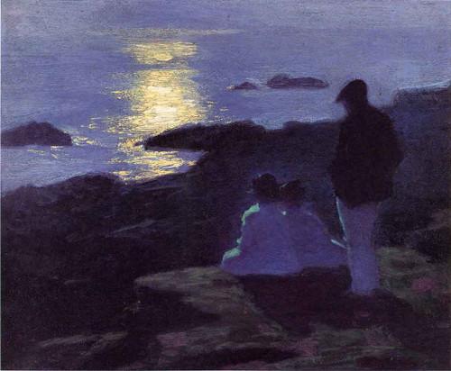 A Summer's Night By Edward Potthast By Edward Potthast