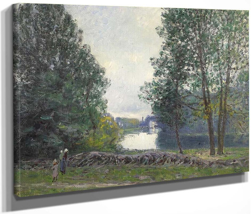 A Turn Of The River Loing, Summer 2 By Alfred Sisley