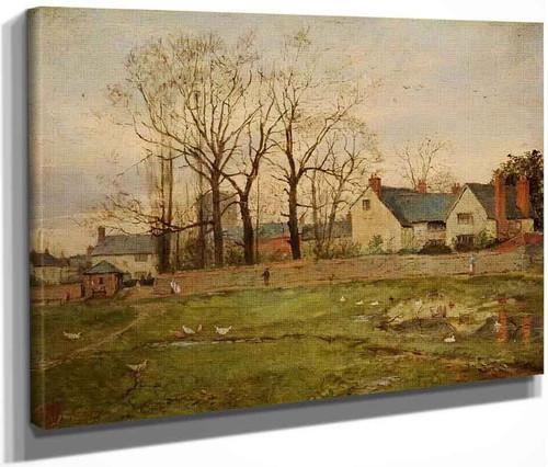 A Village Scene By Edward William Cooke, R.A.