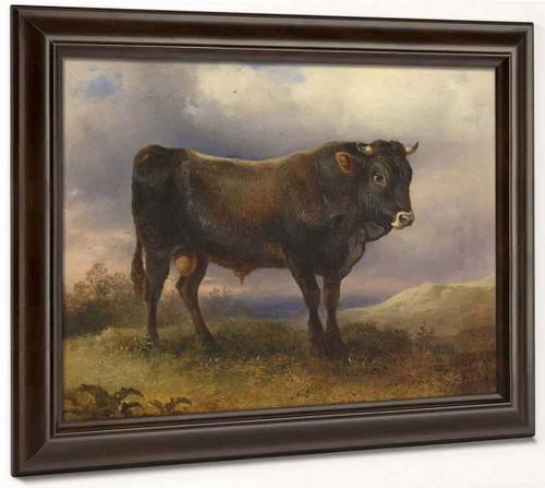 A Young Bull By Friedrich Gauermann