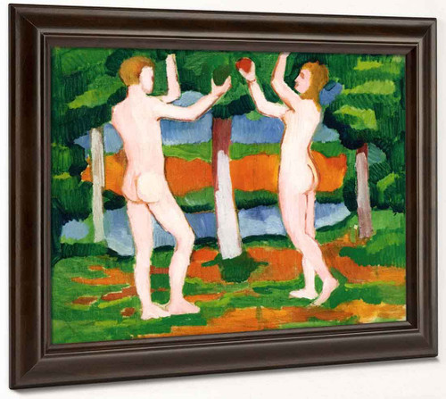 Adam And Eve By August Macke