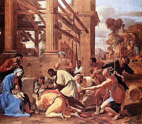 Adoration Of The Magi By Nicolas Poussin By Nicolas Poussin