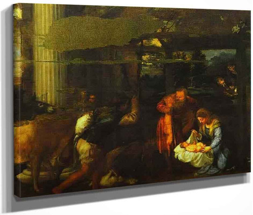 Adoration Of The Shepherds By Titian