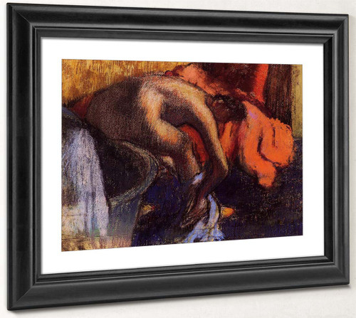 After Bathing, Woman Drying Her Leg By Edgar Degas By Edgar Degas
