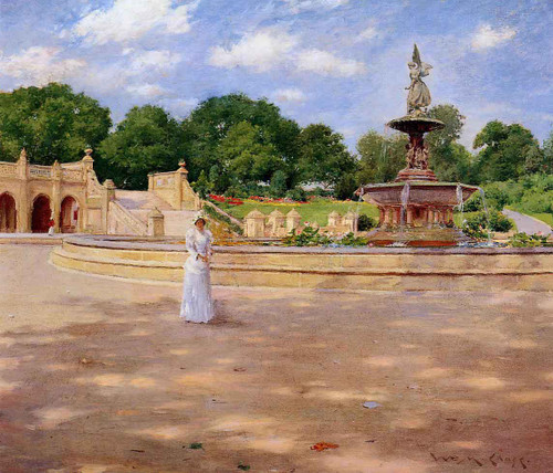 An Early Stroll In The Park By William Merritt Chase By William Merritt Chase