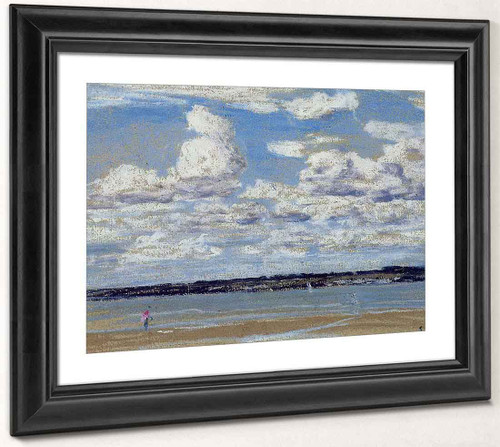An Estuary In Brittany By Eugene Louis Boudin By Eugene Louis Boudin
