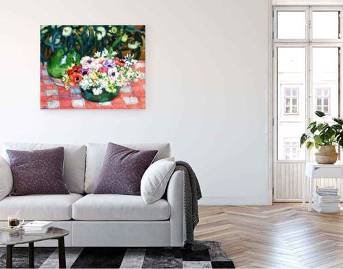 Anemones And Eucalyptus By Theo Van Rysselberghe