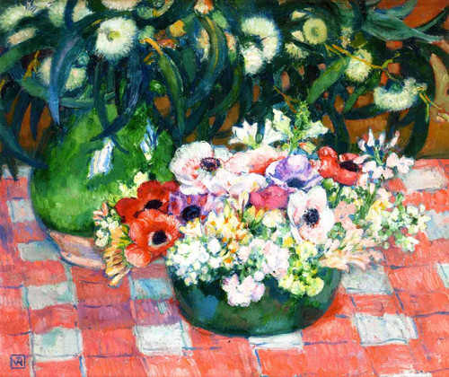Anemones And Eucalyptus By Theo Van Rysselberghe