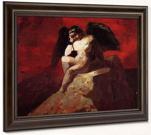 Angel In Chains By Odilon Redon By Odilon Redon