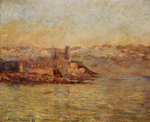 Antibes And The Maritime Alps By Claude Oscar Monet
