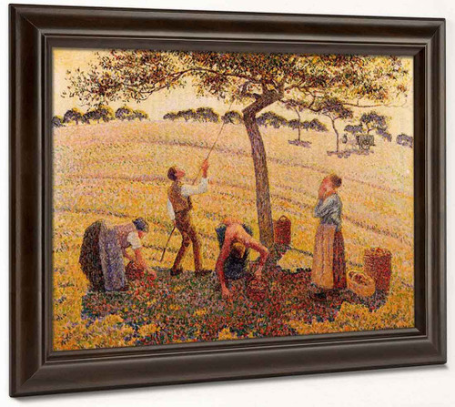 Apple Pickers, Eragny By Camille Pissarro By Camille Pissarro