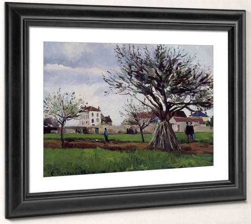 Apple Trees At Pontoise By Camille Pissarro By Camille Pissarro