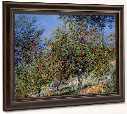 Apple Trees On The Chantemesle Hill By Claude Oscar Monet