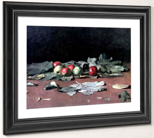 Apples And Leaves. By Ilia Efimovich Repin By Ilia Efimovich Repin