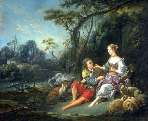 Are They Thinking Of Grapes By Francois Boucher