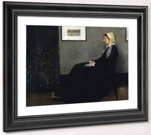 Arrangement In Grey And Black Portrait Of The Painter's Mother By James Abbott Mcneill Whistler American 1834 1903