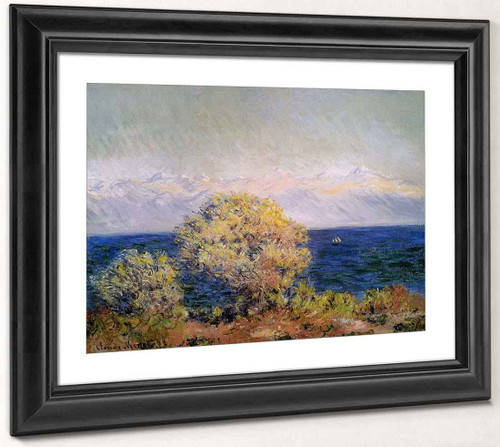 At Cap D'antibes, Mistral Wind By Claude Oscar Monet