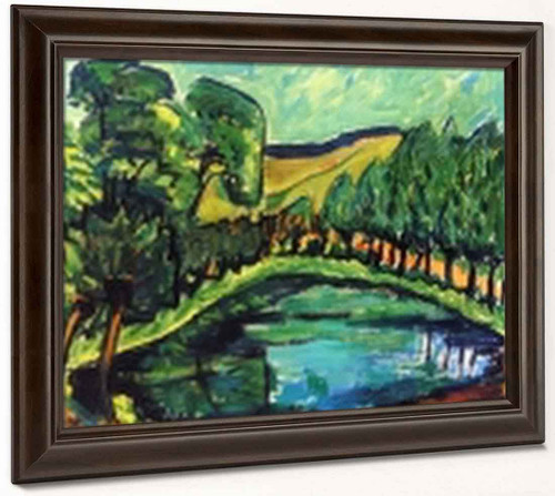 At The Pond By Erich Heckel