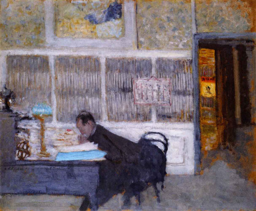 At The Revue Blanche  By Edouard Vuillard