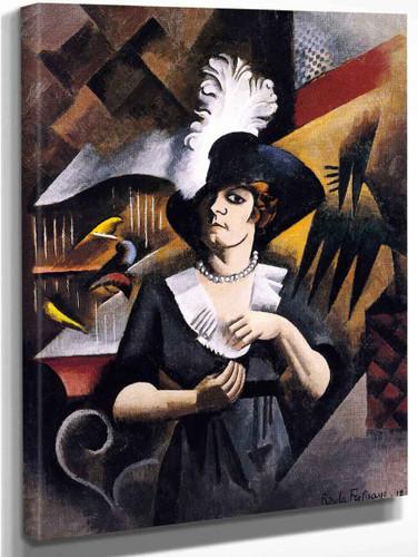 Alice In A Large Hat By Roger De La Fresnaye