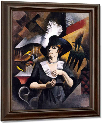 Alice In A Large Hat By Roger De La Fresnaye Oil on Canvas Reproduction
