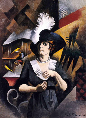 Alice In A Large Hat By Roger De La Fresnaye