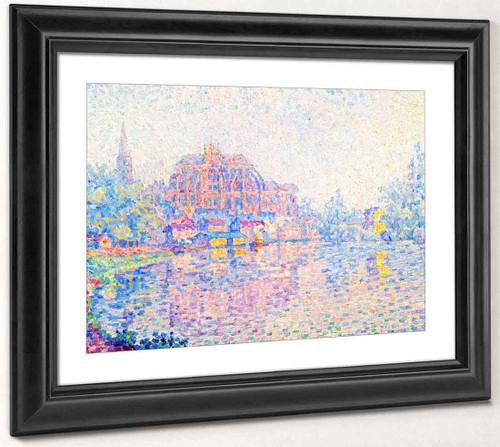Auxerre, La Riviere By Paul Signac