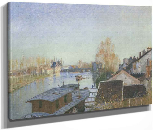 Banks Of The Loing Near Moret By Alfred Sisley